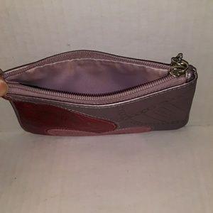 Coach Bags - Coach Madison Jewel Metallic Leather Purple Heart